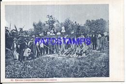 111976 PARAGUAY COSTUMES NATIVE ESCENA CAMPESTRE ASADO CON CUERO POSTAL POSTCARD - Mexico