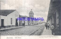 111978 PARAGUAY ASUNCION STREET CALLE PALMAS & RAILROAD POSTAL POSTCARD - Paraguay