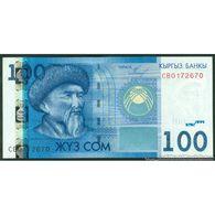 TWN - KYRGYZSTAN 26a - 100 Som 2009 Prefix CB UNC - Kyrgyzstan