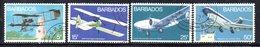 CI911 - BARBADOS 1972, Serie Yvert N. 361/364  Usata  (2380A) . Aerei - Barbados (1966-...)