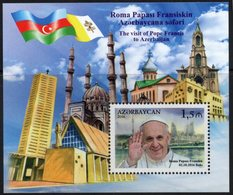 Azerbajan (Azerbaijan, Azerbaïdjan) 2016. The Visit Of Pope Francis To Azerbaijan. Mi.#Bl.173A (1182A) MNH - Azerbaïjan