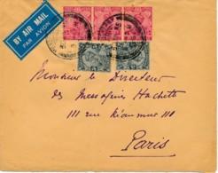Air Mail Letter Inde - Pondicherry 30 JUN 35 Vers Paris 6 VII 1935 - Poste Aérienne