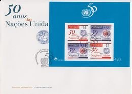 Portugal 1995 50Y UNO United Nations M/s FDC (F7797) - FDC