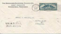 Par Avion - By Air Mail - USA Springfield Tenn. Sep 7 1940 Vers La Suisse Via Lissabon 18.9.40 / Philips Radio - Air Mail