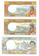 Papeete 6 Note Set 1969-85 COPY - Papeete (French Polynesia 1914-1985)