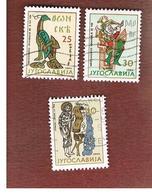 JUGOSLAVIA (YUGOSLAVIA)   - SG 1136.1138   -    1964 YUGOSLAV ART -   USED - 1945-1992 Repubblica Socialista Federale Di Jugoslavia