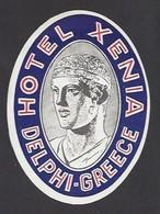 étiquette Valise  -  Hôtel Xenia à Delphi Grèce - Hotel Labels