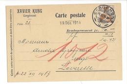 22057 - Corgémont Xavier Kung Remboursement Pour Loveresse 1914 - JU Jura