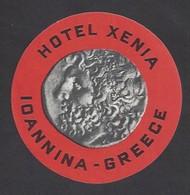 étiquette Valise  -  Hôtel Xenia à  Ioannina  Grèce - Hotel Labels