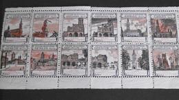 """Vignettes De Guerre 10 Villes Martyres """"Avant/Après"""", Union Des Femmes De France, 6ème Région, Hôpital A 115, Neuf+gomm - Commemorative Labels"""