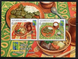 Azerbajan (Azerbaijan, Azerbaïdjan) 2016. RCC. National Cuisine. Mi.#Bl.174A. MNH - Azerbaïjan