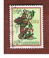 "JUGOSLAVIA (YUGOSLAVIA)   - SG 1188   -    1966 YUGOSLAV ART: MANUSCRIPT INITIALS ""V"" -   USED - 1945-1992 Repubblica Socialista Federale Di Jugoslavia"