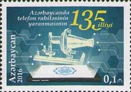 Azerbajan (Azerbaijan, Azerbaïdjan) 2016. 135th Anniversary Of Phone. Mi.#1181A MNH** - Azerbaïjan