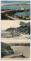 LOT 3 CP * DINARD La Cale Au Loin St Malo (couleur Attelages Bateaux) Pointe Moulinet Digue (animée) Vue Générale Plage - Dinard