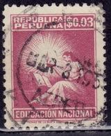 Peru 1952, Symbolical Of Education, 3c, Sc#RA35, Used - Peru