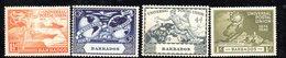 APR403 - BARBADOS 1949, Serie Yvert N. 190/193 ***  MNH   (2380A) . UPU - Barbados (1966-...)