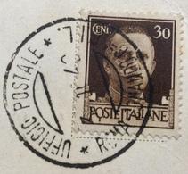 FASCISMO UFFICIO POSTALE ROMA COMANDO GENERALE  G.I.L. 3/10/42  CARTOLINA PER BOLOGNA - Storia