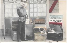 """"""" LA  BRETAGNE """" Service Rapide Paris - New York , Partira Du Havre Le 8 Avril 1904 ( Sur L'affiche ) - Steamers"""