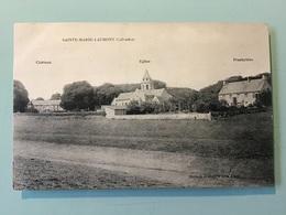 SAINTE-MARIE-LAUMONT ( Calvados) - Château - Eglise - Presbytère - France