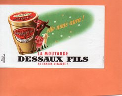 """BUVARD. ORLEANS (LOIRET ) MOUTARDE """" DESSAUX FILS  Achat Immédiat - Moutardes"""