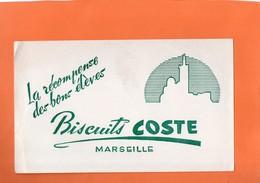 "BUVARD. MARSEILLE (B-du-R ) BISCUIT "" COSTE ""  Achat Immédiat - Food"