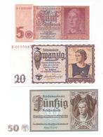 Germany 3 Note Set 1939-42 COPY - [ 4] 1933-1945: Derde Rijk
