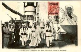 MAROC - Affranchissement Plaisant Sur Carte Postale - L 29429 - Morocco Agencies / Tangier (...-1958)