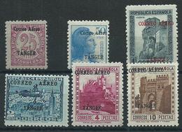 Tanger Correo 1939 Edifil 108/13 * Mh - Spain