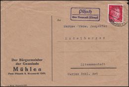 Bürgermeister Gemeinde Mühlen Bf. Poststelle Pilsach über NEUMARKT LAND 29.6.43  - Germany