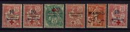 Maroc - 1914-15 - N° 55 (x) - 57* - 59* - 60* - 61* - 62* Neufs Traces De Charnières - TB - - Morocco (1891-1956)