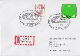 1737 Umweltschutz & Grünes Herz MiF R-Bf SSt Mainz Tag Der Umwelt Saurier 2.9.94 - Protection De L'environnement & Climat