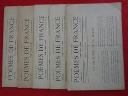 Poèmes De France, Paul Fort, Bi-mensuel N ° 4 à 8 - French Authors