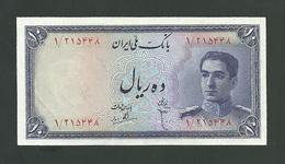 IRAN 10 Rials 1948 _ AUNC_Mohammad Reza Pahlavi _Persian - Iran