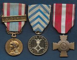 3 Médailles Guerre D' Algérie - France