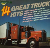 * LP *  14 GREAT TRUCK HITS - MERLE HAGGARD , DAVE DUDLEY, DEL REEVES, BILLIE JOE SPEARS A.o. - Compilaties
