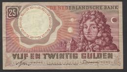 Netherlands  25 Gulden 10-4-1955 - NO: 4 SZ 066405  - See The 2 Scans For Condition.(Originalscan ) - [2] 1815-… : Koninkrijk Der Verenigde Nederlanden