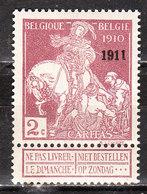 95**  Caritas Surchargé 1911 - Bonne Valeur - MNH** - COB 475 - Vendu à 15% Du COB!!!! - 1910-1911 Caritas