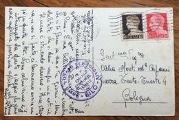 FASCISMO POSTO RISTORO PER SOLDATI  - SILO - P.N.F. FASCIO FEMMINILE TRIESTE  29/7/42  CARTOLINA PER BOLOGNA - Storia