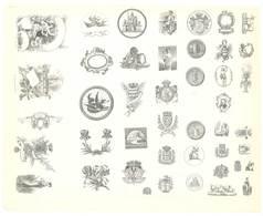 Feuille De L'imprimeur A. Waton , Saint Etienne Illustrée De Dessins ( Modèles En-tête De Factures ) - Documentos Antiguos