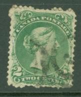 Canada: 1868/90   QV   SG57a    2c   Pale Emerald-green   Used - Gebraucht