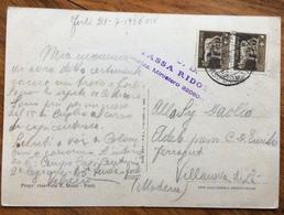 FASCISMO FORLI' CORSO GRADUATI  O.N.B. 21/7/36  CARTOLINA PER VILLANOVA DI LA ' MODENA  TARIFFA RIDOTTA - Storia