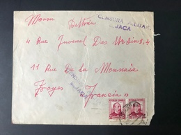 ESPAGNE - Censura Militar JACA - à Destination De TROYES - Mai 1937 - 1931-50 Briefe U. Dokumente