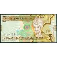 TWN - TURKMENISTAN 23 - 5 Manat 2009 Prefix AC UNC - Turkmenistan