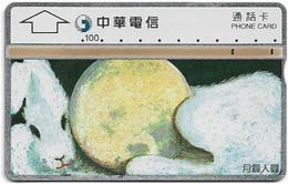 Taiwan - Chunghwa Telecom - L&G - Round Moon, Round Man - 633F - 1996, 100U, Used - Taiwan (Formosa)