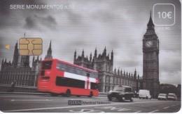 ISN-217 TARJETA DE ESPAÑA DE ISERN DE LA SERIE MONUMENTOS Nº10 (BIG BEN)  LONDON-LONDRES - Tarjetas Telefónicas