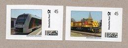 """BRD - """"Marke Individuell"""" -   2 W - Eisenbahn , Train - Triebwagen """"abellio"""" Und Rangierlok G1206 Der  MEG - Eisenbahnen"""