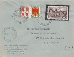 FRANCE- LETTRE SAINTE-GAUBURGE SAINTE COLOMBE ORNE 19.3.51 POUR LAIGLE /4 - 1921-1960: Modern Period