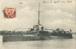Cpa Tunisie 1911 - Bateau Rapière (écrite De Bizerte) - Tunisie