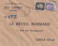 FRANCE- LETTRE 17.8.48 - LE REVEIL NORMAND  /4 - 1921-1960: Periodo Moderno