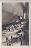 ZEPPELIN - HANGAR- ANIMATION - CACHETS VOL -1937 - SUPERBE CARTE - Frankfurt A. Main